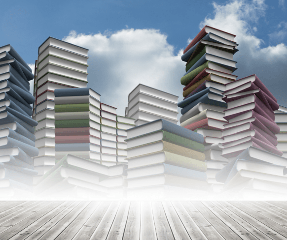 What to do with used books? Piles and piles of books floating up to the sky - let the stories live on.