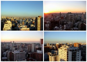 View of the Buenos Aires skyline from our new apartment