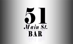 Logo for 51 Main St. Bar