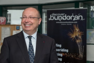 The ambassador enjoying his time in Bundoran. Pic CMP Productions — with Ambassade de France en Irlande at Discover Bundoran.