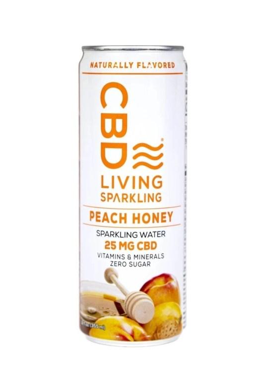 Peach Honey CBD Sparkling Water