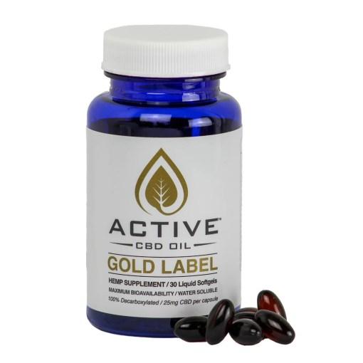 Active CBD Oil Capsules 30 ct
