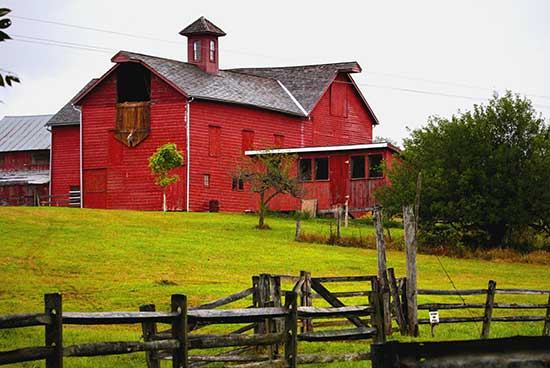 discover central new jersey image of a red barn on howell farm