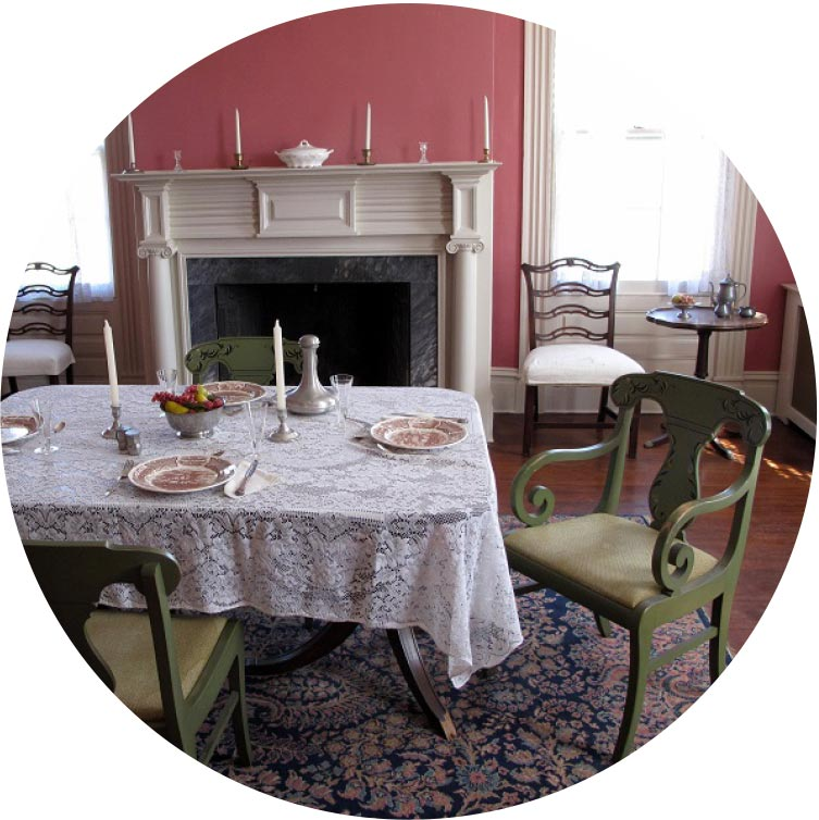 Places To Go - Photograph of Dining Room - Abraham Staats House in Central New Jersey