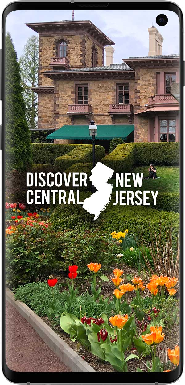 Discover Central New Jersey Smartphone Device Website Loaded On Screen About Us - Collaborative Initiative