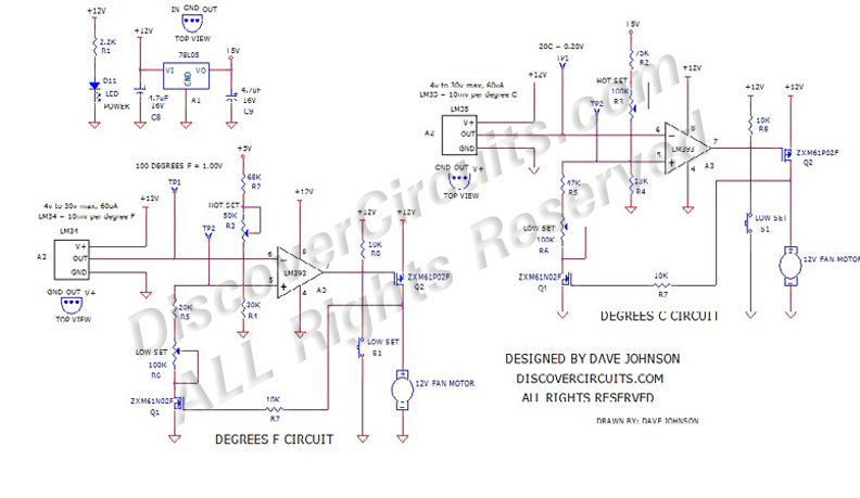 Circuit: #38512V Cooling Fan Thermostat
