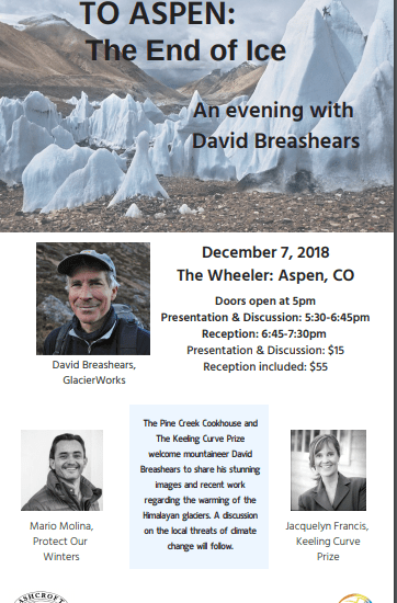 The Keeling Curve Prize and An Evening with David Breashears: