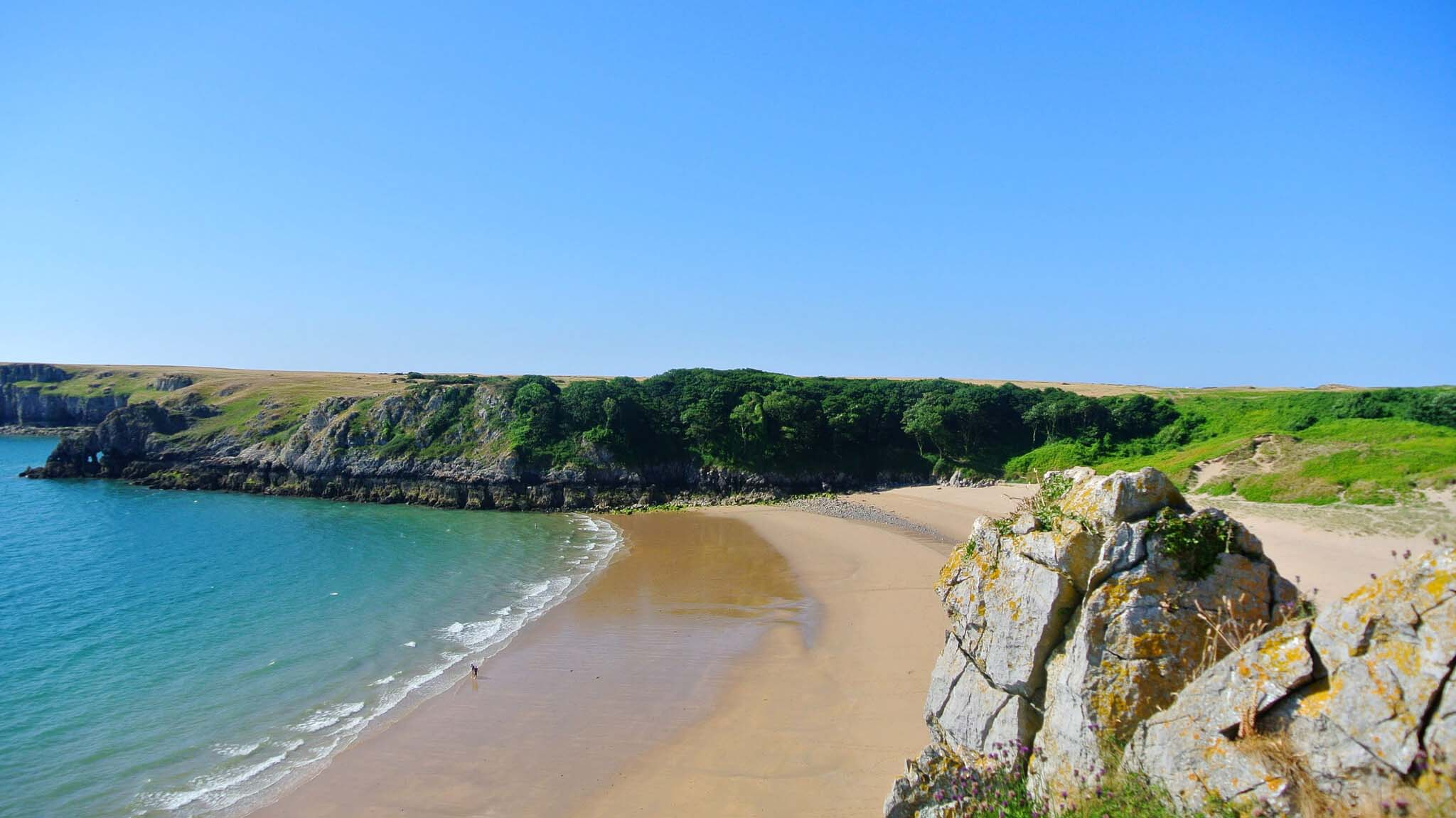 wales best beaches - barafundle