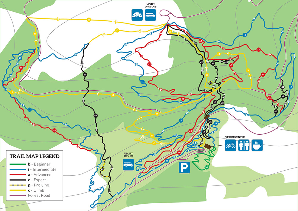 bike park wales trail map