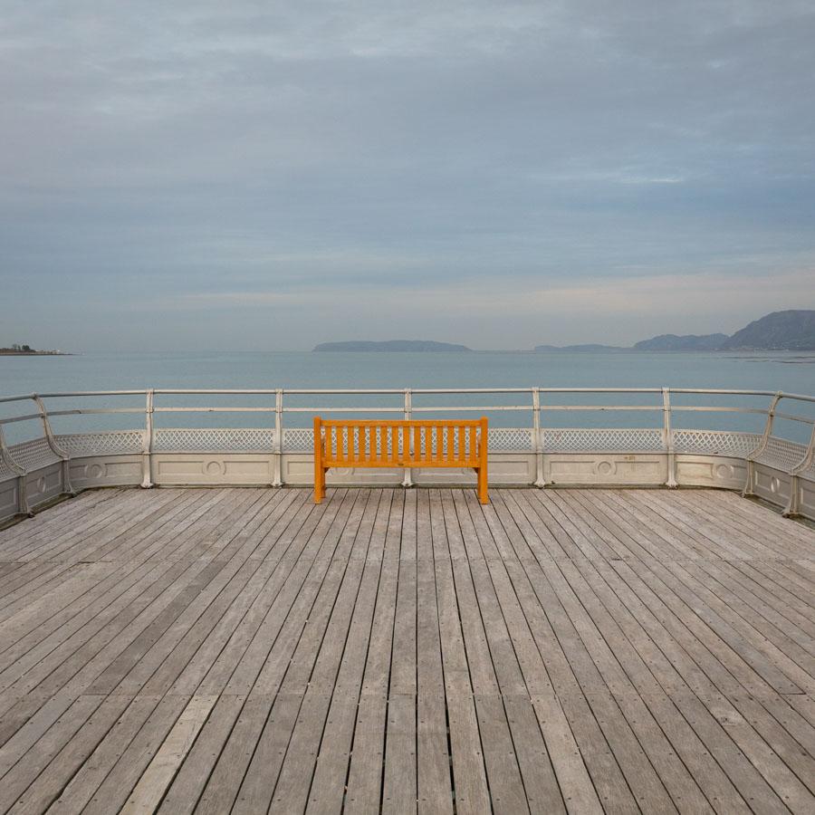 Last light, Bangor Pier, Gwynedd.