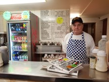 Chip Shop Dave in chippy