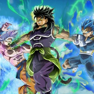 Broly Vs UI Goku And Vegeta