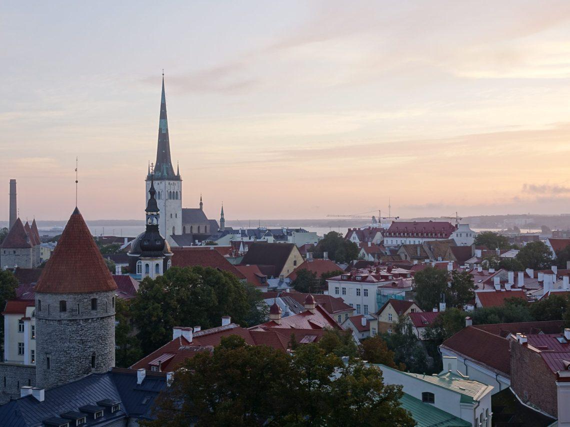 Living in Estonia - View of Tallinn at Sunset