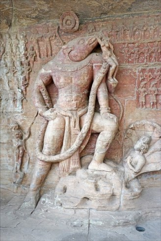 A sculptured panel at the Gupta-period (4th-6th century CE) caves of Udayagiri, Madhya Pradesh, India (photo by Jean-Pierre Dalbéra)