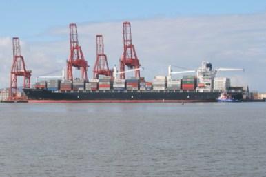 container ship loading dock, ensenada