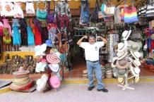 hats, bags, souvenir's and local color