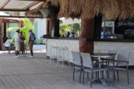 In addition to the restaurant, the beach club also has a lounge with a sound system and drinks to go.