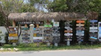 if you need directions on the way to the beach, look for this roadside stand