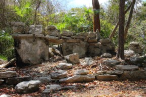 Maya ruins in the park called the Altar