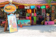 art and craft work for sale, just off the beach