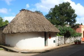 This Mayan Home was preserved and restored because it is representative of the maya culture and building materials used in this area.