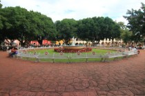 Parque Rosado is the main park in central Valladolid directly across from the cathedral in the center of town
