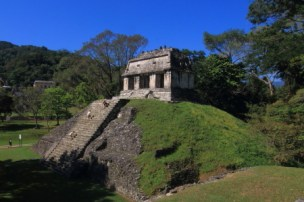 This temple is named after Count Jean Waldeck of France who stayed here sometime in the 18th century and published many examples of maya and aztec sculptures.