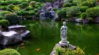 a pagoda in the garden
