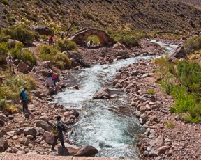 The Rio Pichueta In the Andes along with this bridge is a historical site where General San Martin's armies crossed the border into Chile and launched an invasion to liberate the country from Spanish rulers. This river is also a good place for trout fishing.
