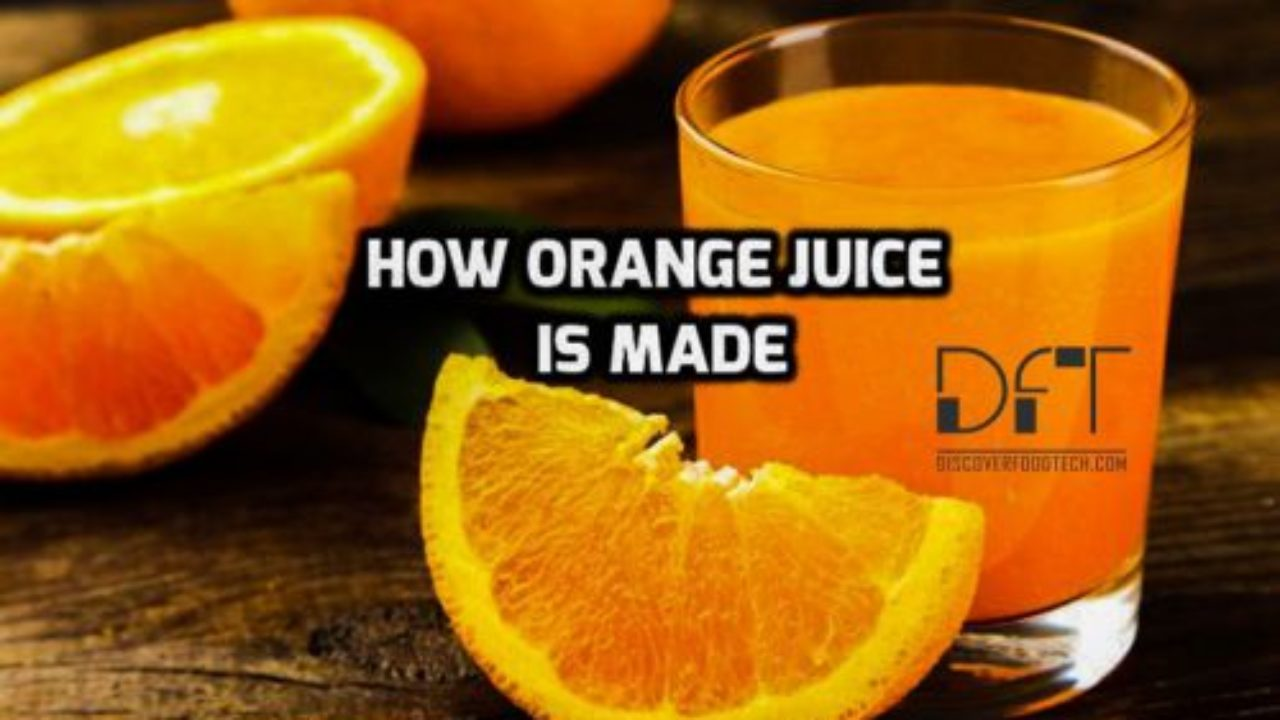 hight resolution of how to make orange juice production process with flow chart