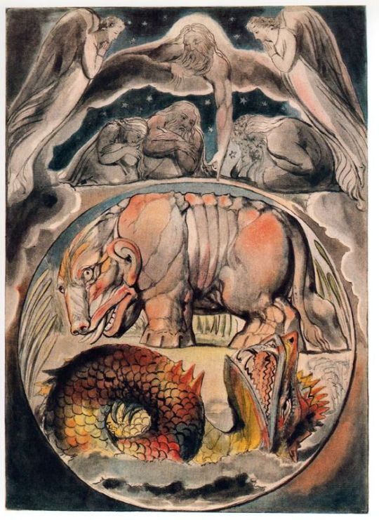 Behemoth and Leviathan from the Book of Job