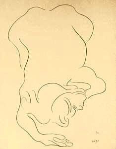Crouching Nude