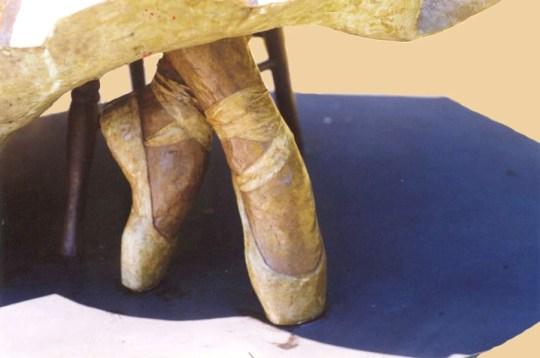 Clara and Her Beloved Nutcracker  (shoes detail)