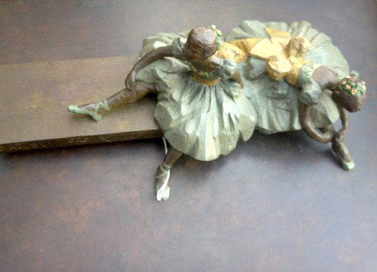 Felcity Foote and Sabina Cartier (Degas Dancers at Rest) (from above)