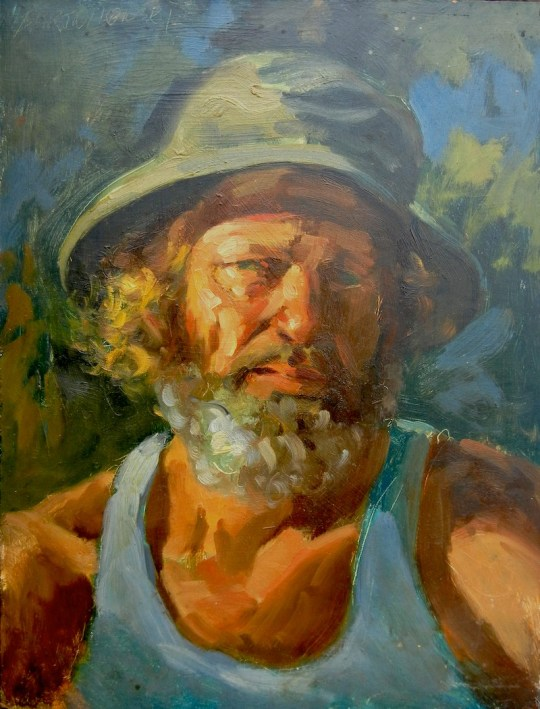 Self-portrait in Hat