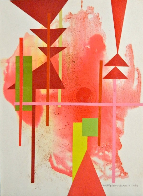 Untitled (Abstract composition, Red Center)