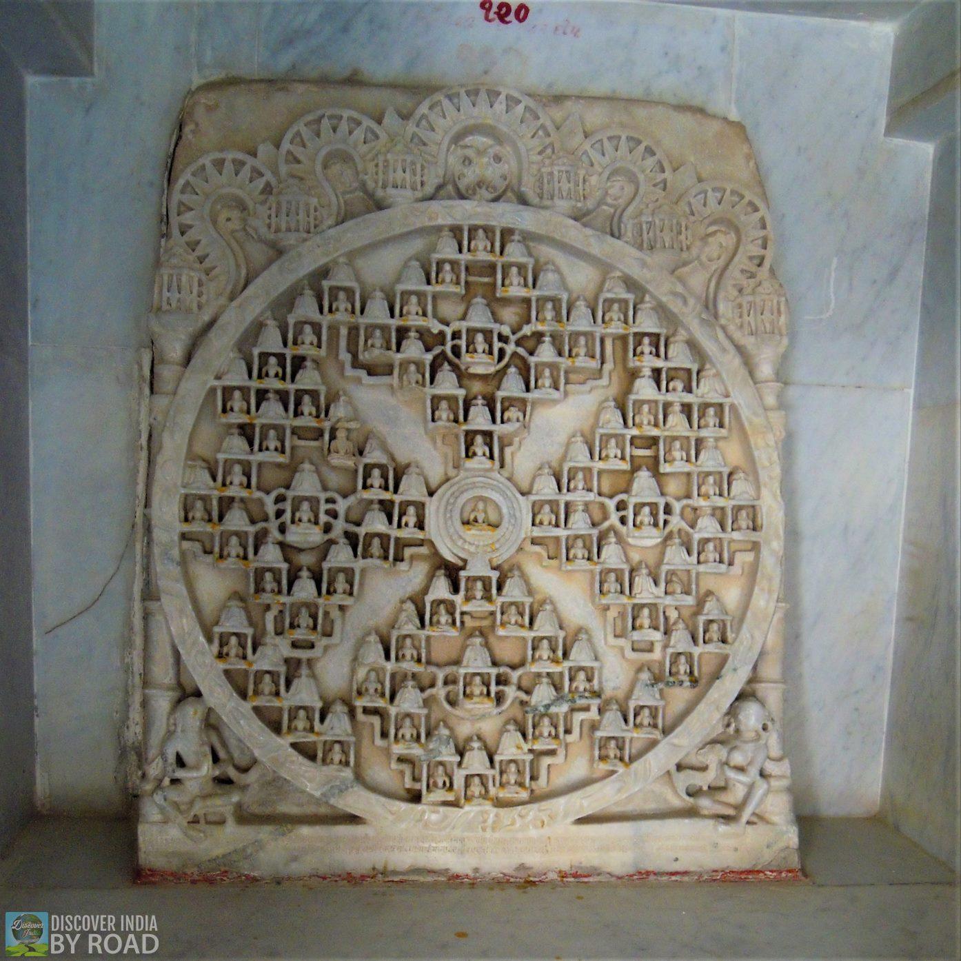 Stone structure inside Neminath Jain Temple