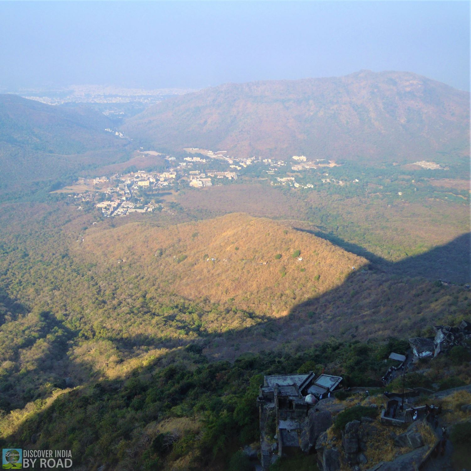 View of Junagadh form mid way to Girnar
