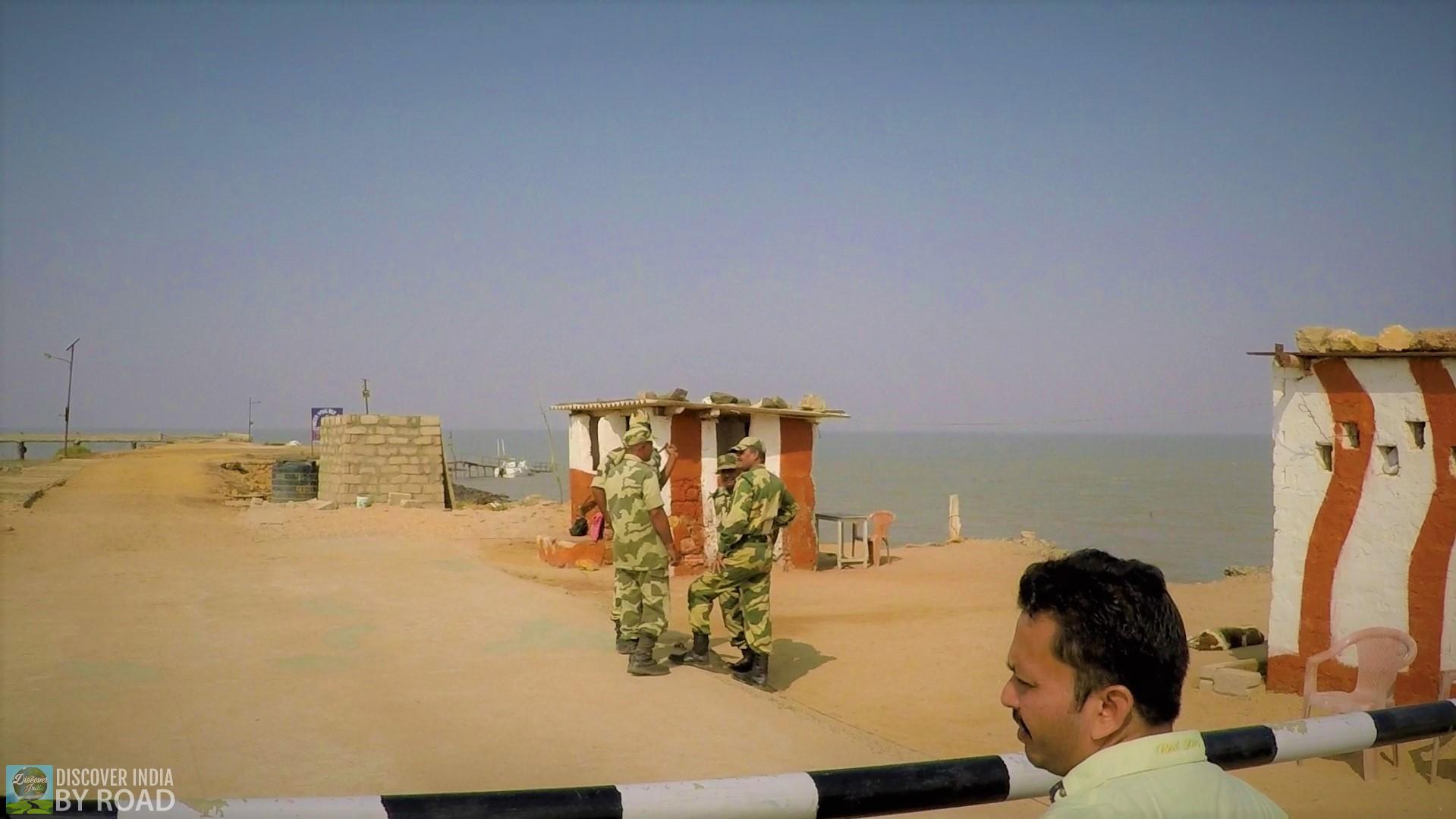 BSF Jawans on duty at Narayan Sarovar post