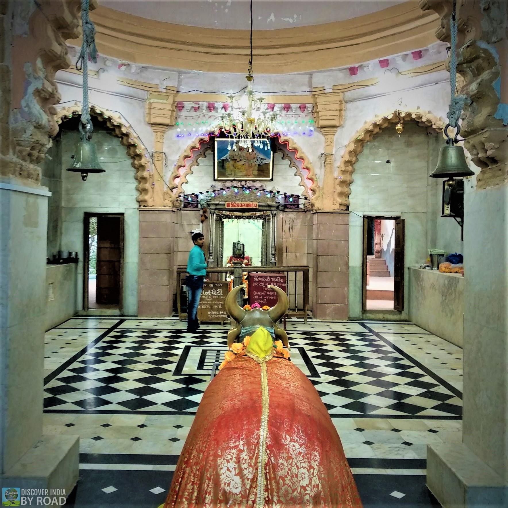 Inside Sabha mandap of Koteshwar Mahadev temple