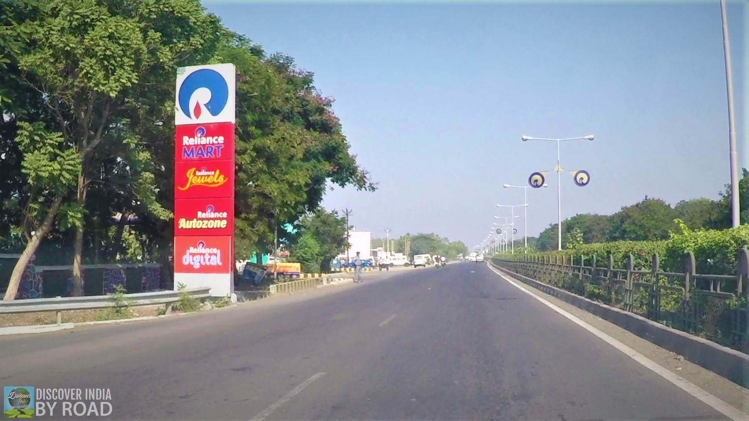 Streets of Jamnagar with reliance sign boards