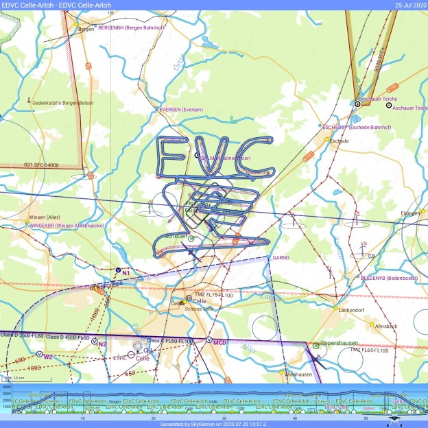 FVC Logo Skywriting