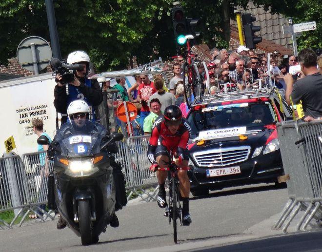 Philippe Gilbert in action, Ronde van België, (copyright Jérémy-Günther & Heinz Jähnick)