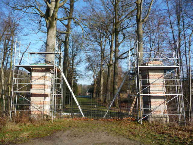 ... but just a bit further, some major renovations are taking place on an ancient gateway.
