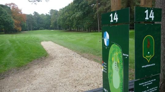 Doiceau golf course, hole number 14
