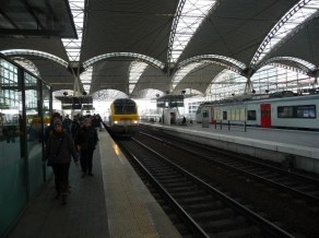 Changing at Leuven station