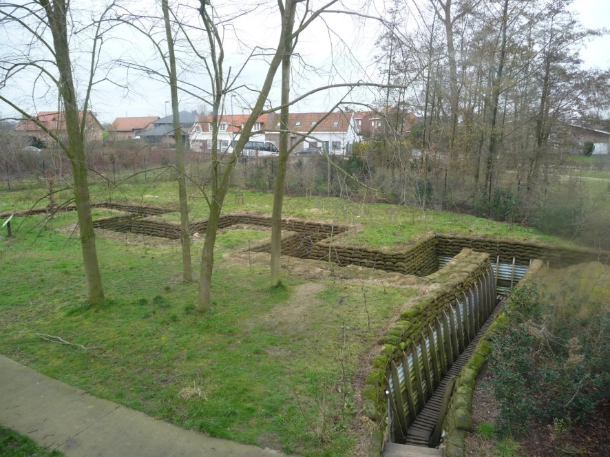 Museum grounds and trenches