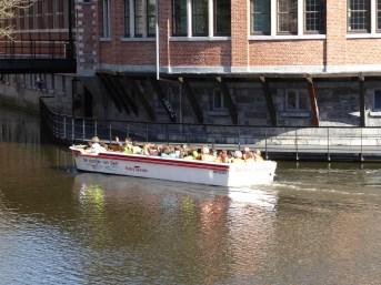 Taking a boat trip in Gent