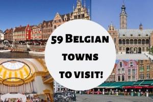 59 Belgian towns to visit