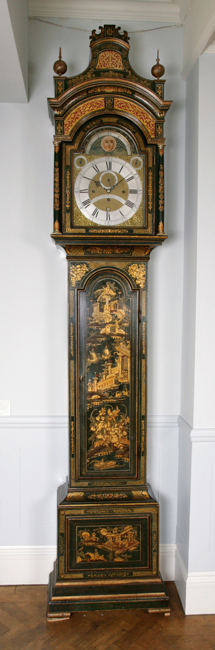George Iii Chinoiserie Japanned Longcase Clock Green Lacquered Longcase Clock By John Monkhouse, London